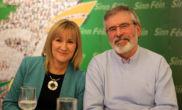 Cllr. Munster and current TD for Louth and one time Crown Steward and Bailiff of the Manor of Northstead, Gerry Adams, at the Magic Road white paper launch.