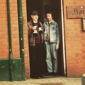 Locals from the 1970s at The Hole in the Wall, a regular haunt of Alex Higgins.