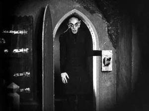 The era defining Nosferatu shot on location below the Widow Murphy's pub.